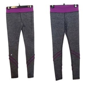 Lululemon Yogi Dance Pant Violet & Grey Ruffles